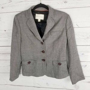 Banana Republic Womens Blazer Jacket Gray 3 Button